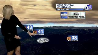 Rising temperatures and mountain snow for Friday - Video