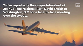 Zinke Flies Park Dir. to DC Over Climate Change Tweet - Video