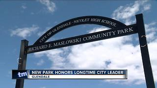 New park honors longtime city leader - Video