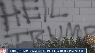 Faith, ethnic communities call for hate crime laws - Video