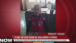 Child found wandering in Pontiac - Video
