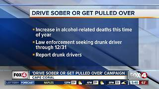 Drive sober or get pulled over campaign - Video