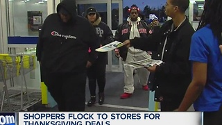 Holiday shoppers hit the stores
