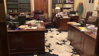 Trump Supporters Ransack Nancy Pelosi Office as They Storm US Capitol
