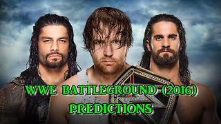 WWE Battleground (2016) WWE Championship Dean Ambrose vs. Roman Reigns vs. Seth Rollins Predictions - Video