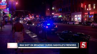 Stray Bullet Hits Man During Nashville Fireworks Show - Video