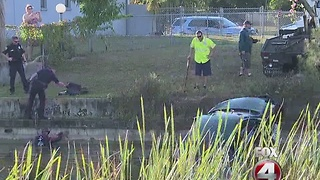 Cape Coral home break in, suspected car involved left in canal