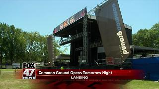 Common Ground Music Festival kicks off tonight in Lansing - Video