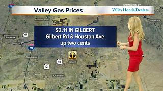 How much is gasoline around the Valley?