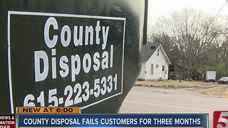 Better Business Bureau Warns Against Rutherford County Trash Service - Video
