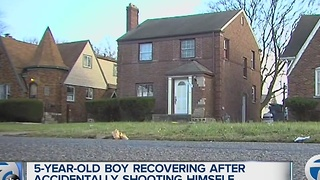 5-year-old recovering after accidentally shooting himself - Video