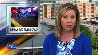 Two Rivers crash leaves man dead, wife critically injured - Video