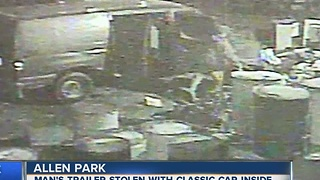 Man hopes surveillance video will help recover stolen classic car - Video