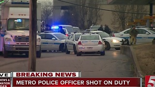 Metro Officer Suffers Non-Life Threatening Injuries In Shooting - Video