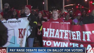 Pay raise debate back on ballot for voters - Video