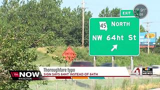 MoDOT is working to correct a sign typo on I-29 - Video