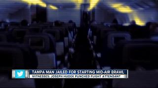 Tampa man assaults flight attendant on Delta flight - Video