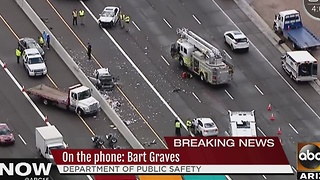 Multi-car crash in Scottsdale on Loop 101 and Cactus Road - Video