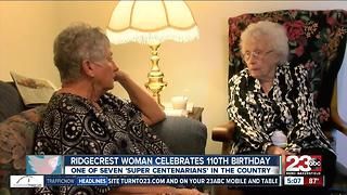 Ridgecrest woman celebrates 110th birthday - Video