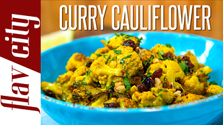 Coconut Curry Cauliflower - Vegetarian - Video