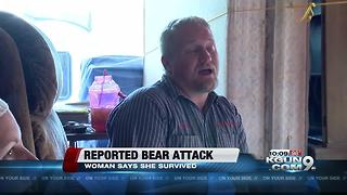 Tucson woman says she was attacked by a bear - Video