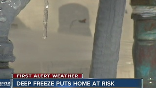 Deep freeze puts homes at risk - Video