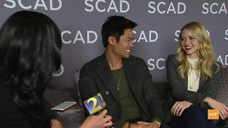 Johanna Braddy, David Lim chat about playing secret agents on 'Quantico' | Hot Topics - Video