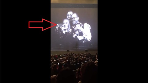 Adele invites gay dads and their baby on stage for a selfie at Toronto concert