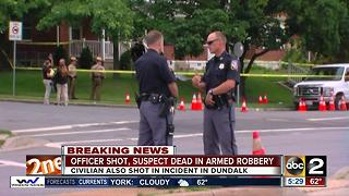 Officer injured in police-involved shooting in Dundalk - Video