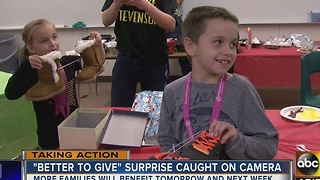 Family down on luck gets surprise Christmas gifts - Video