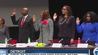 New era for Detroit school board - Video