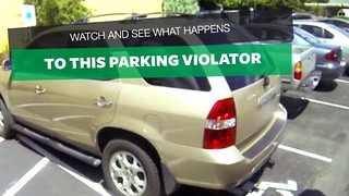 Entitled Woman Who Steals Handicap Parking Spot Is Taught A Swift Lesson - Video