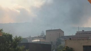 Wildfire Smoke Blankets Southern Sardinia - Video
