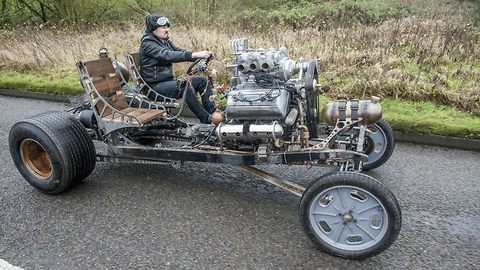 Inventor Builds Steampunk Inspired Automatron Car