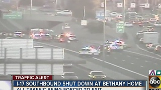 ADOT: I-17 shut down at Bethany Home for crash - Video