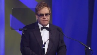 Elton John awarded for efforts to combat AIDS - Video