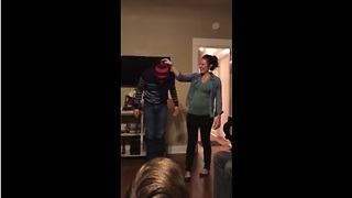 The Gender Of The Baby Is Hidden Beneath Dad's Beanie - Video
