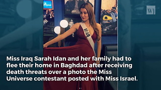 Miss Iraq Posed for a Photo with Miss Israel, Now She's Been Forced to Flee Her Home - Video