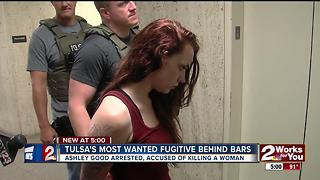 Tulsa's most wanted fugitive behind bars - Video