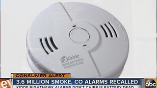 Kidde NightHawk recalls about 3.6 million smoke and carbon monoxide combination alarms - Video