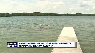 Fight over natural gas pipeline heats up in Washtenaw County - Video