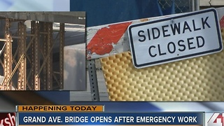 Grand Avenue Bridge opens after emergency work - Video