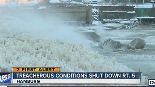 Weather Conditions shut down portions of Route 5 - Video