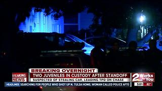 Two juveniles in custody after police standoff - Video