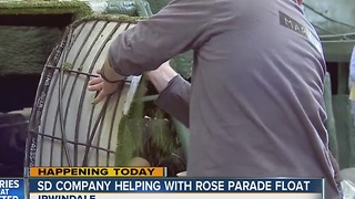 San Diego company helping with Rose Parade float - Video