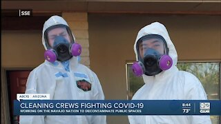 Cleaning crews fighting COVID-19