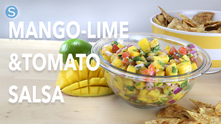 How to make healthy & easy mango lime salsa
