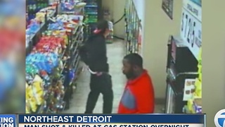 Man shot and killed near gas station in Detroit - Video