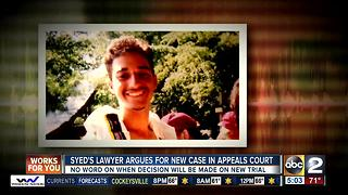 Adnan Syed's lawyer argues for new case in appeals court - Video