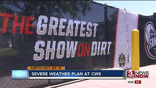CWS severe weather plan 4pm